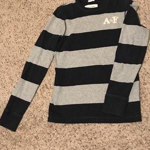 A&F men's thick long-sleeve shirt